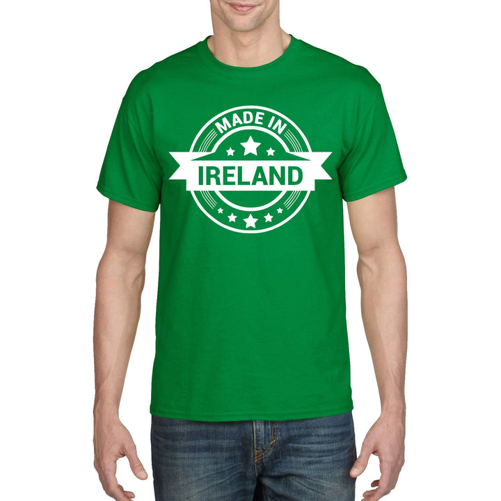 Made In Ireland Green T Shirt St Patricks Day TShirt Irish Bar T-Shirt Flag P36