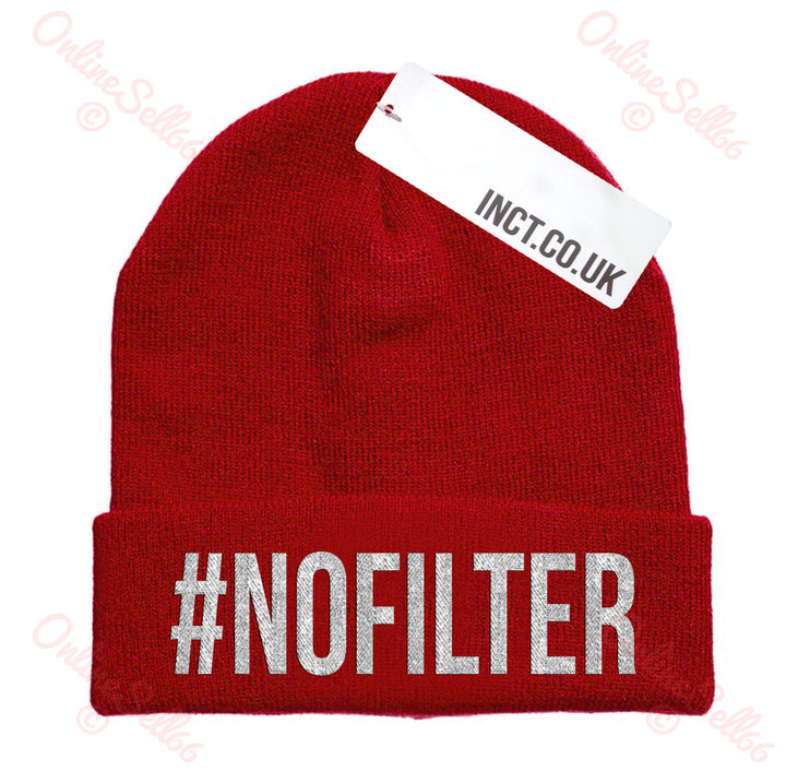No Filter Knitted Woolly Swag Winter Mens Indie Beanie Beenie Cap Hat Hipster