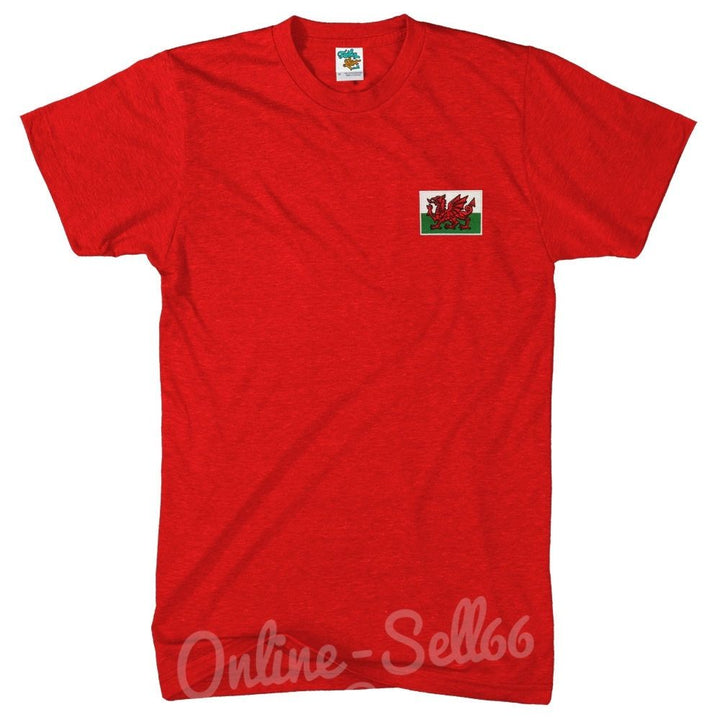 Wales Nation Tshirt World Cup Welsh Commonwealth T Shirt Football Rugby Top