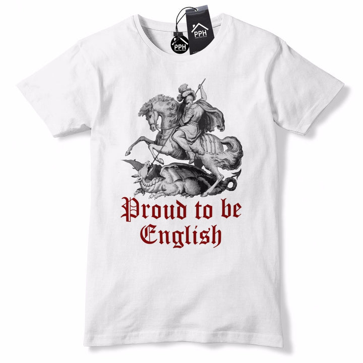 Proud To be English T Shirt St George's Day Tshirt Dragon Slayer England GD2