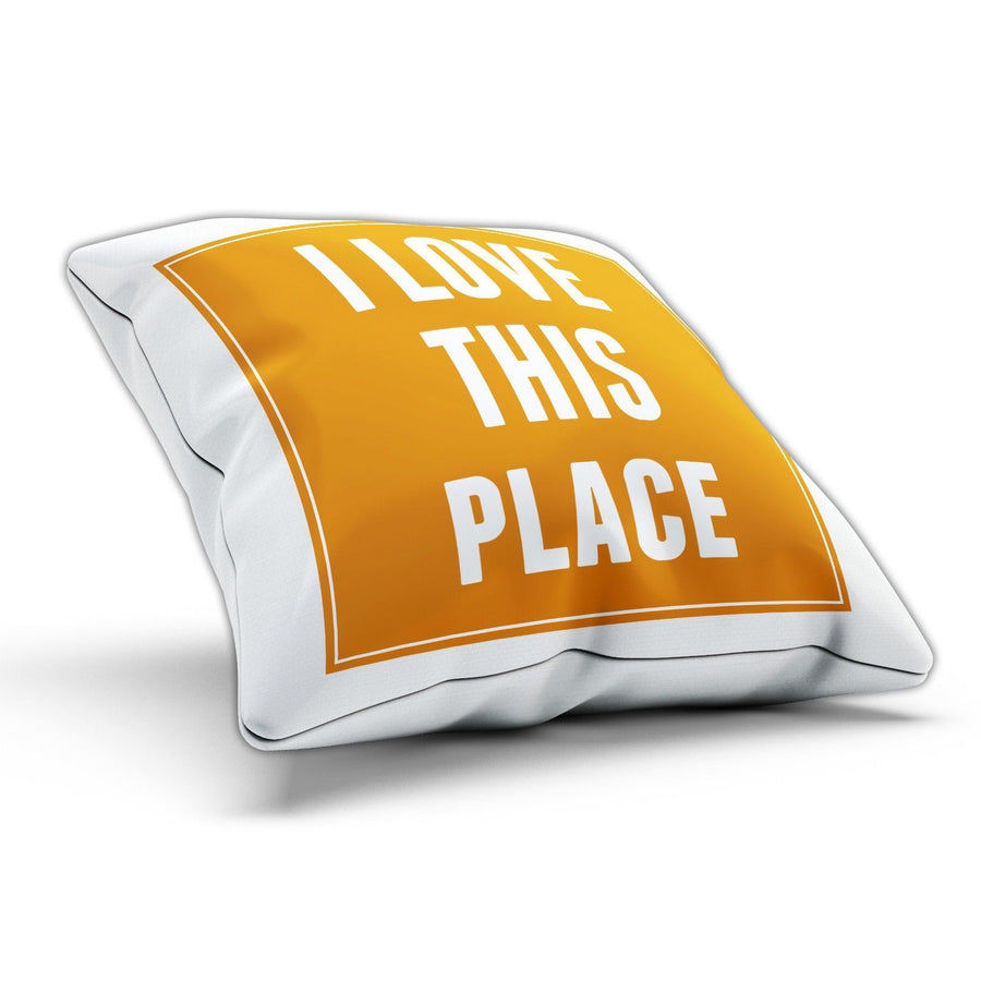 I Love this Place Funny Pillow Cushion Cover Case Hipster Present Gift Home