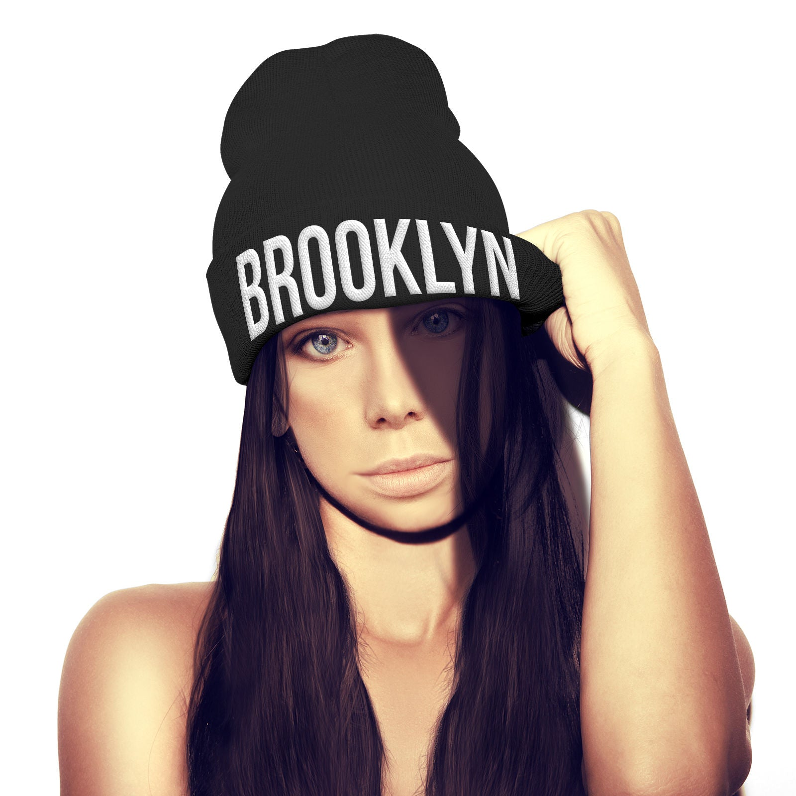 13d5df23b21 Product image 1 Brooklyn Beanie Hat New York City Gangster Hat NYC Gift  Stocking Xmas Bobble hat