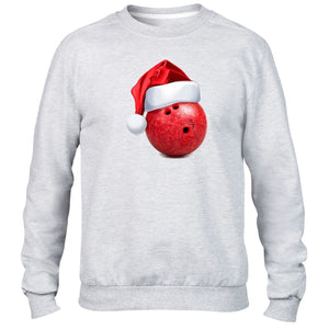 Bowling Ball Christmas Hat Sweater Santa Present Funny Joke Novelty Festive Kids