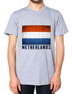 Netherlands Mens Nation Top Dutch Country Tshirt Holland Football T Shirt