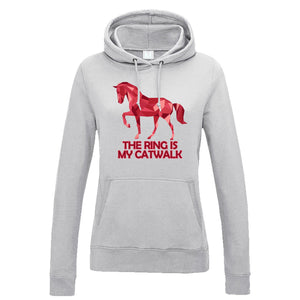 Ladies Show Jumping Hoodie The Catwalk Horse Riding Hoody Sweatshirt Jumper 756
