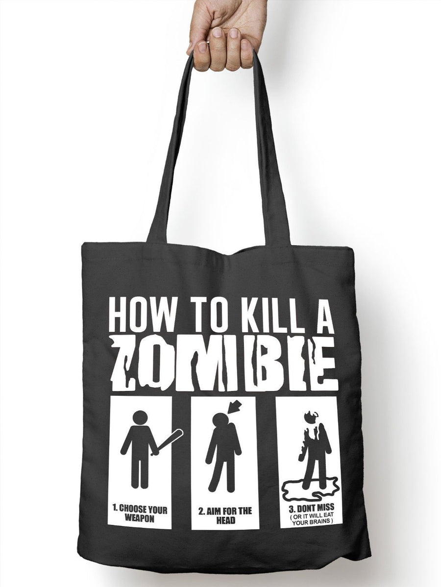 How to Kill a Zombie Apocalypse Funny Tote Bag For Life Shopper Shopping E66