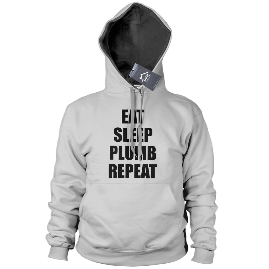 Eat Sleep PLUMBER Repeat Hoodie Mens Plumbing Funny Hoody Sweater Tradesman PT19
