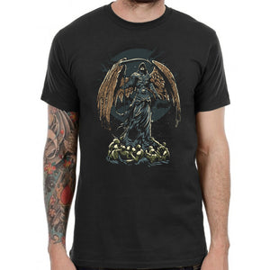 Dark Angel T Shirt Grim Reaper Punk Gamer Anime Tee Tattoo Gothic Demon Ghost