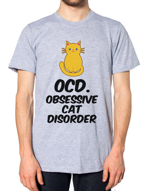 OCD Obsessive Cat Disorder T-Shirt Tee Cute Funny Hipster Meow Feline