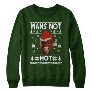 Mans Not Hot Christmas Sweatshirt Jumper Sweater Men Women Kids Manz Day L153