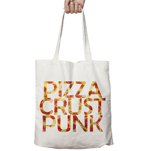 Pizza Crust Punk Peppperoni Funny Food Drink Shopper Tote Bag Shopping Gift 509