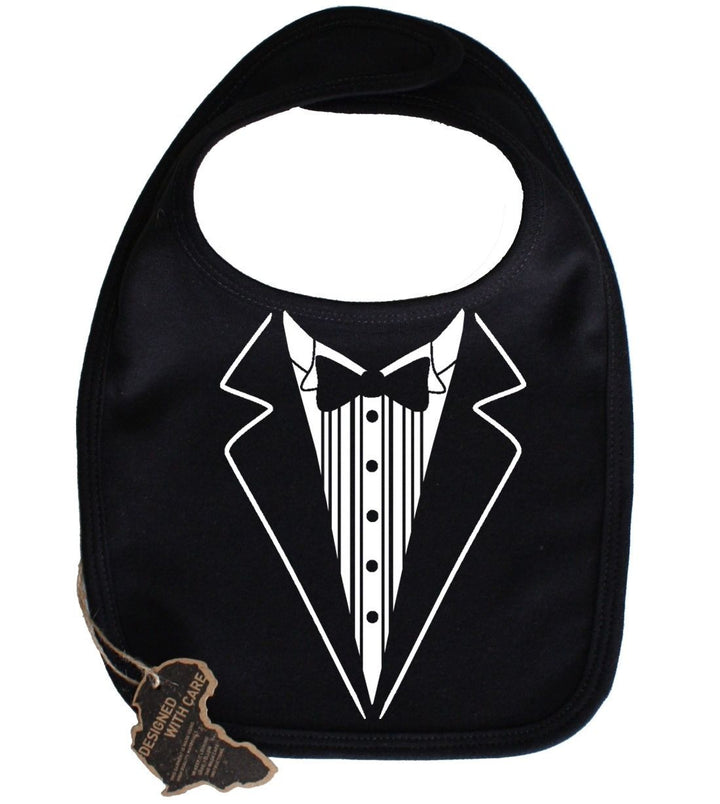 Tuxedo Bib Velcro Funny Adorable Cute Unisex Girl Boy Birthday Present Gift Suit