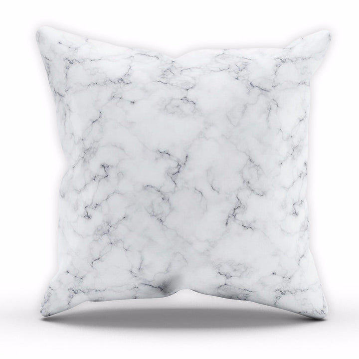 White Marble Cushion Fashion Home Modern Interior Living Room Monochrome STP569