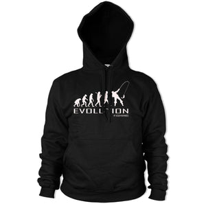Evolution of Fishing Hoody Funny HOODIE  Stag Fish Carp Fathers Day Angling PT2