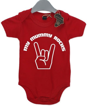 My Mummy Rocks Baby Grow BabyGrow Funny Cool Unisex Birthday Present Mum Mother