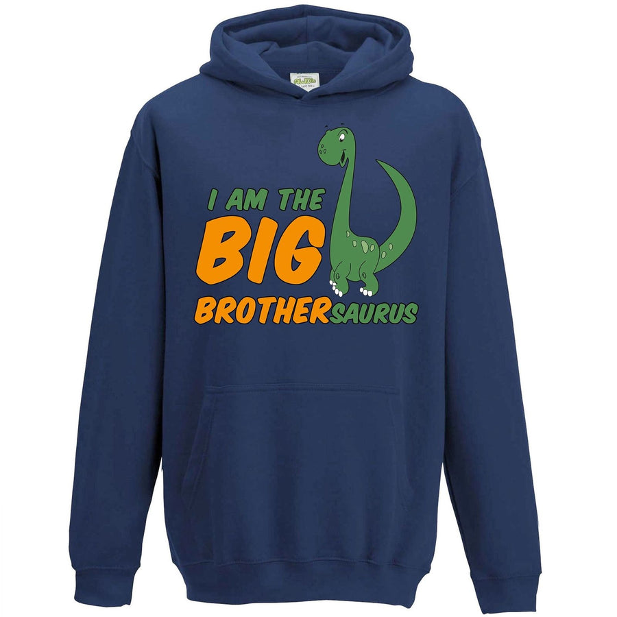 I Am The Big Brother Dinosaur Hoodie New Older Bro Clothing Jumper Cute L80