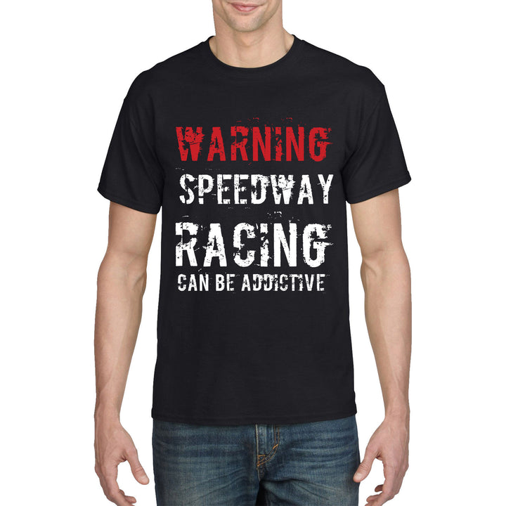 Motorcycle T Shirt WARNING SPEEDWAY RACING Funny Birthday Gift Biker Dad 885