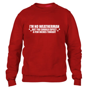Im no Weather Man Funny Rude Mens Sweatshirt Geek Sweat Top Kids