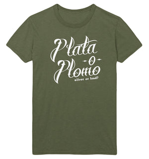 Plata o Plomo T Shirt Tee Tattoo Style Colombian Drug Lord Pablo Narco Escobar