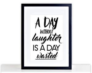 Laughter Laugh Kitchen Picture Poster Framed Mounted Wine Funny Home Gift 214