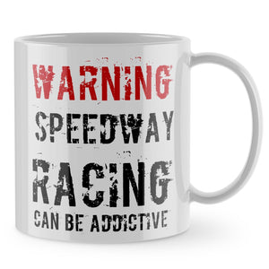 Speedway Mug - Racing Can Be Addictive Mens Gift Cup Motorbike Motorcycle 885