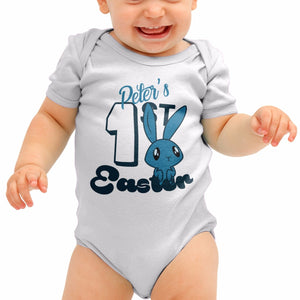 Personalised First Easter 1st Funny Baby Grow Babygrow Rompie Body Suit B35