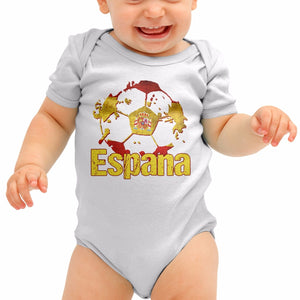Espana Football Shirt Spain Futbal Baby Grow Romper Suit Babygrow Top Body B40