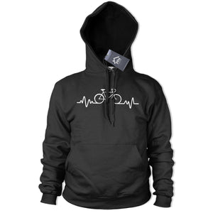 Bicycle Pulse Hoodie Heartbeat Bike Top BMX Hoody Biking Motor Cycle Geek 395