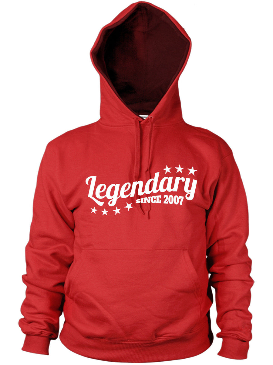 Legendary Since 2007 Hoodie Birthday Gift Kids Legend Son Present Men Women
