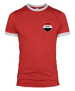 Egypt Retro Badge T Shirt Football Kit Russia World Cup Supporters Top Men  L254
