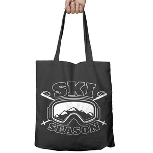 Snow Season Skiing Shopper Tote Bag Ski Snowboard Shopping Holiday Gift 492