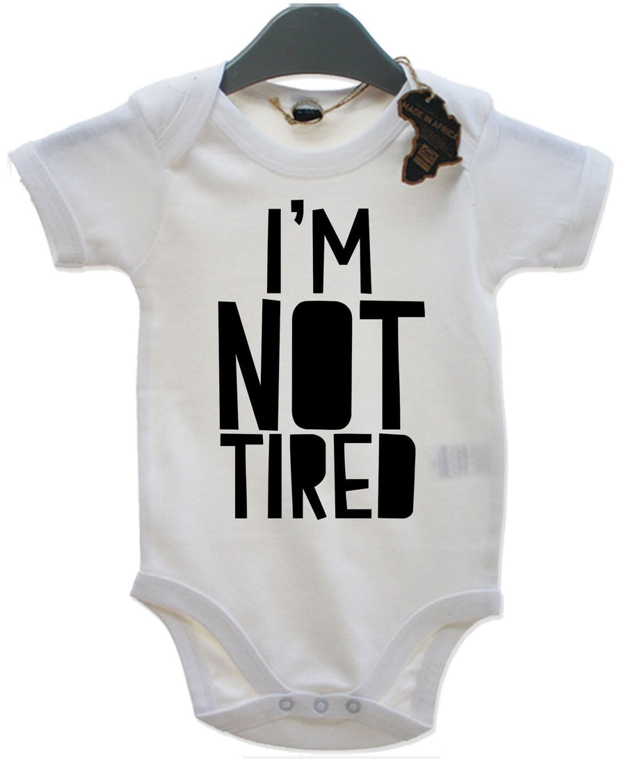 I'm Not Tired Baby Grow Kids Top Vest Toddler Nap Kids Clothing Present EBG29