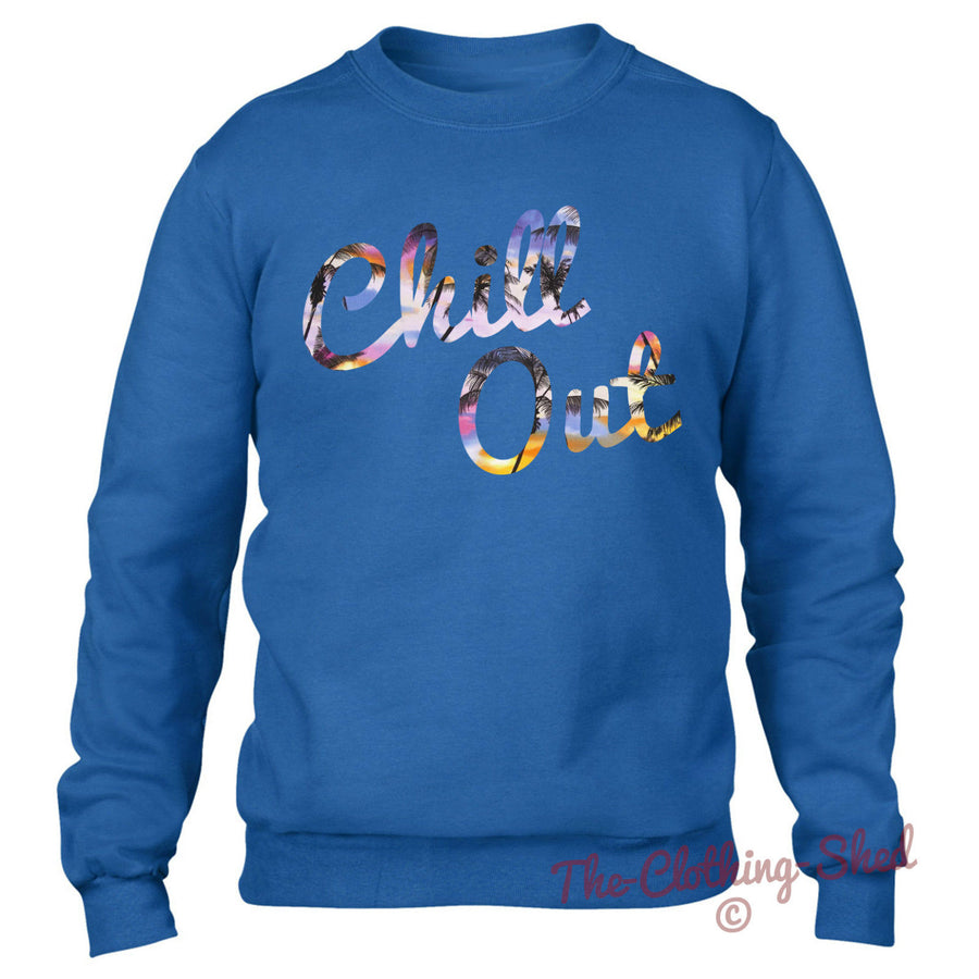 CHILL OUT SWEATER MEN WOMEN RELAX CHILLED URBAN STREETWEAR CHILLIN HIPSTER
