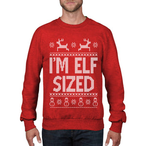 Im Elf Sized Christmas Jumper Funny Mens Womens Kids Elfie Film Sweatshirt CH14