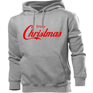 ENJOY CHRISTMAS HOODIE COLA FONT XMAS JUMPER GIFT PRESENT MEN WOMEN KIDS