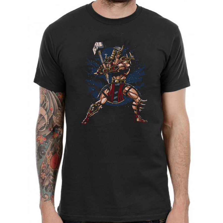 Emperor Thor Hammer Graphic T-Shirt Mens Womens Kids Black Cotton Gift TF28
