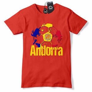 Andorra Football Shirt futbol d'Andorra Red White T Shirt Jersey Top Mens B40