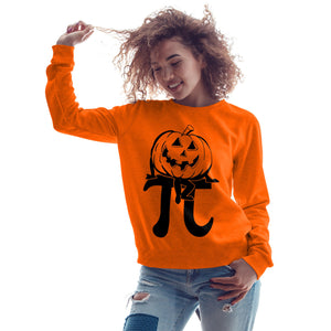 Maths Geek Pumpkin Pie SWEATSHIRT Funny Womens Sweater Halloween Costume H2