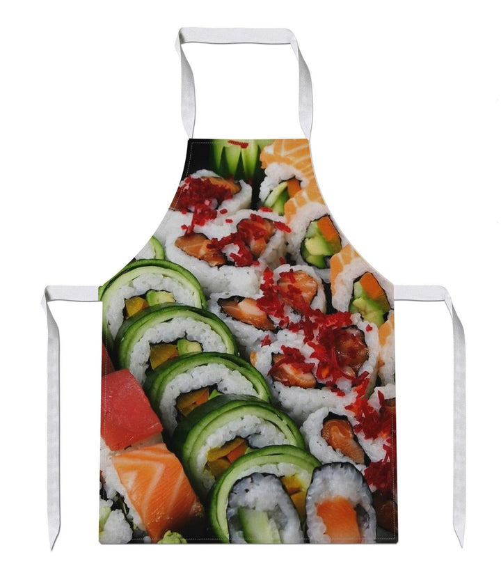 Sushi All Over APRON Fish Yo Dinnner Chef Love Food Present Gift Cook Raw