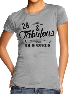 28 And Fabulous T Shirt Top Women Girl Vintage Gift Present Mum Mothers Day