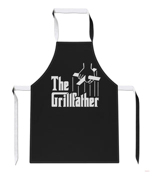 The Grillfather funny Fathers Day Dad Gift Geek Godfather BBQ APRON Tabard A40