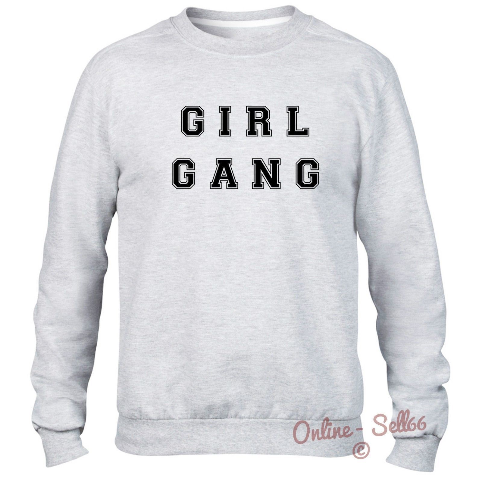 Girl Gang Sweater Warm Cold Winter Indie Swag Mens Womens Unisex Hipster  Tumblr
