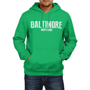 Baltimore Maryland Hoodie SLOGAN US State City Mens Womens USA Football America