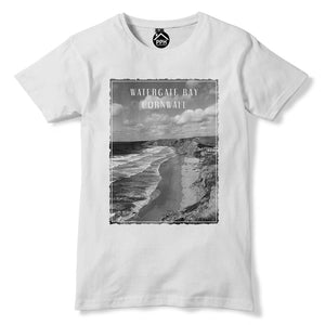 Watergate Bay Cornwall Tshirt Surf Board Mens Top Famous Surfing T Shirt 114