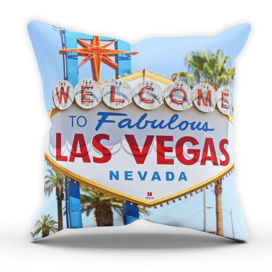 Las Vegas Sign Summer Pillow Cushion Pad Cover Case Bed Home Stag Do Present USA