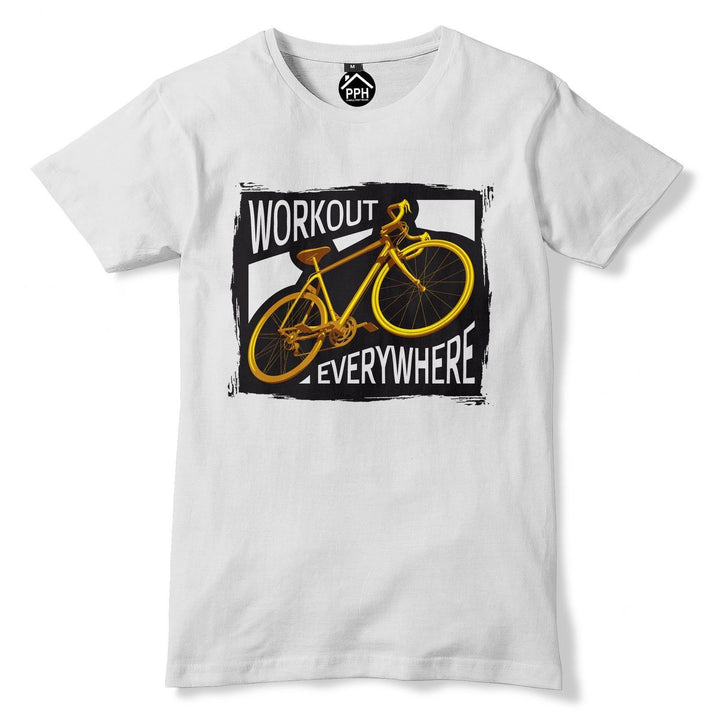 Workout Everywhere Bicycle Tshirt Racing Bike Tour de T shirt Mountain Gym 164
