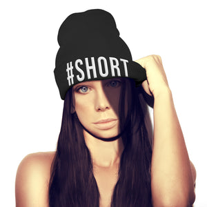 #Short Short Funny Geek Embroidered Beanie Hat Womens Queen Girls Mens beenie