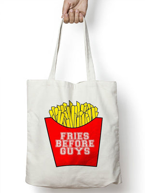 Fries Before Guys Shopping Tote Bag Food Girls Funny Boys Gift Student  M89