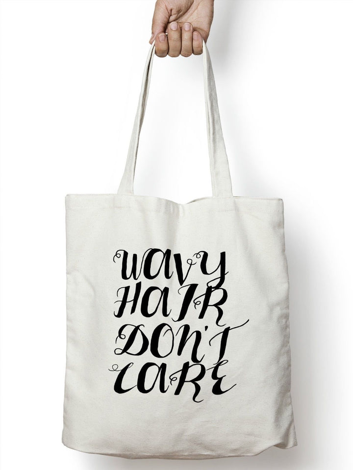 Wavy Hair Don't Care Tote Bag Shopper Beach Holiday Summer Curly Frizzy STP167