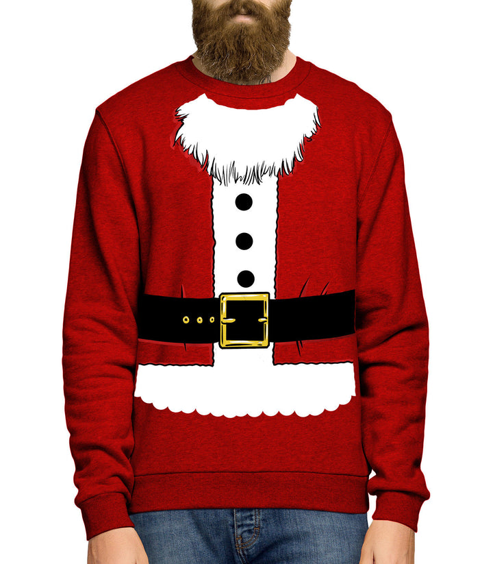 Santa Costume Sweatshirt Jumper Sweater Christmas Novelty Men Women Kids JC24